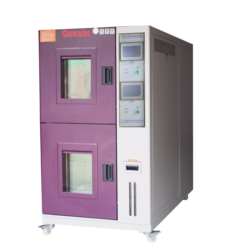 Touch Screen Battery Testing Equipment High Temperature Discharge / Double - Deck Test Chamber