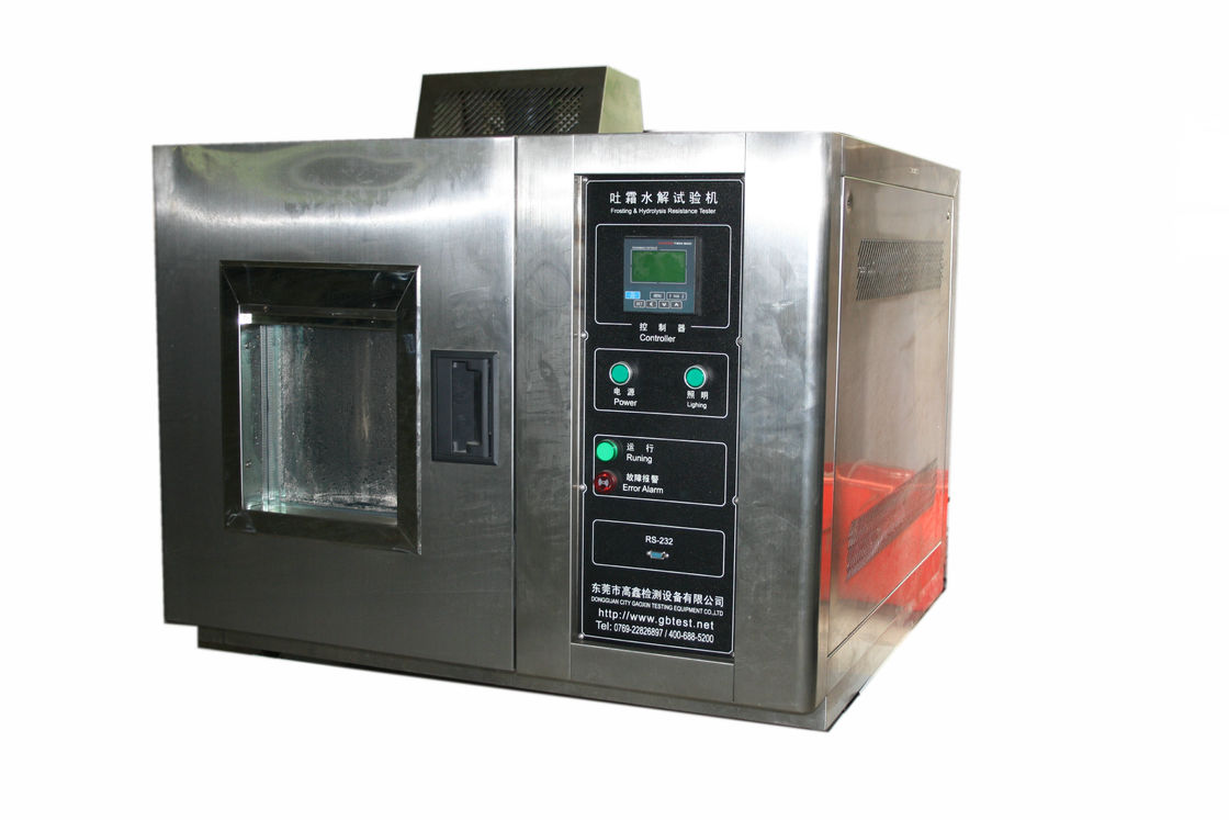 Touch Screen ASTM F 609 Shoe Materials Frosting and Hydrolysis Testing Equipment